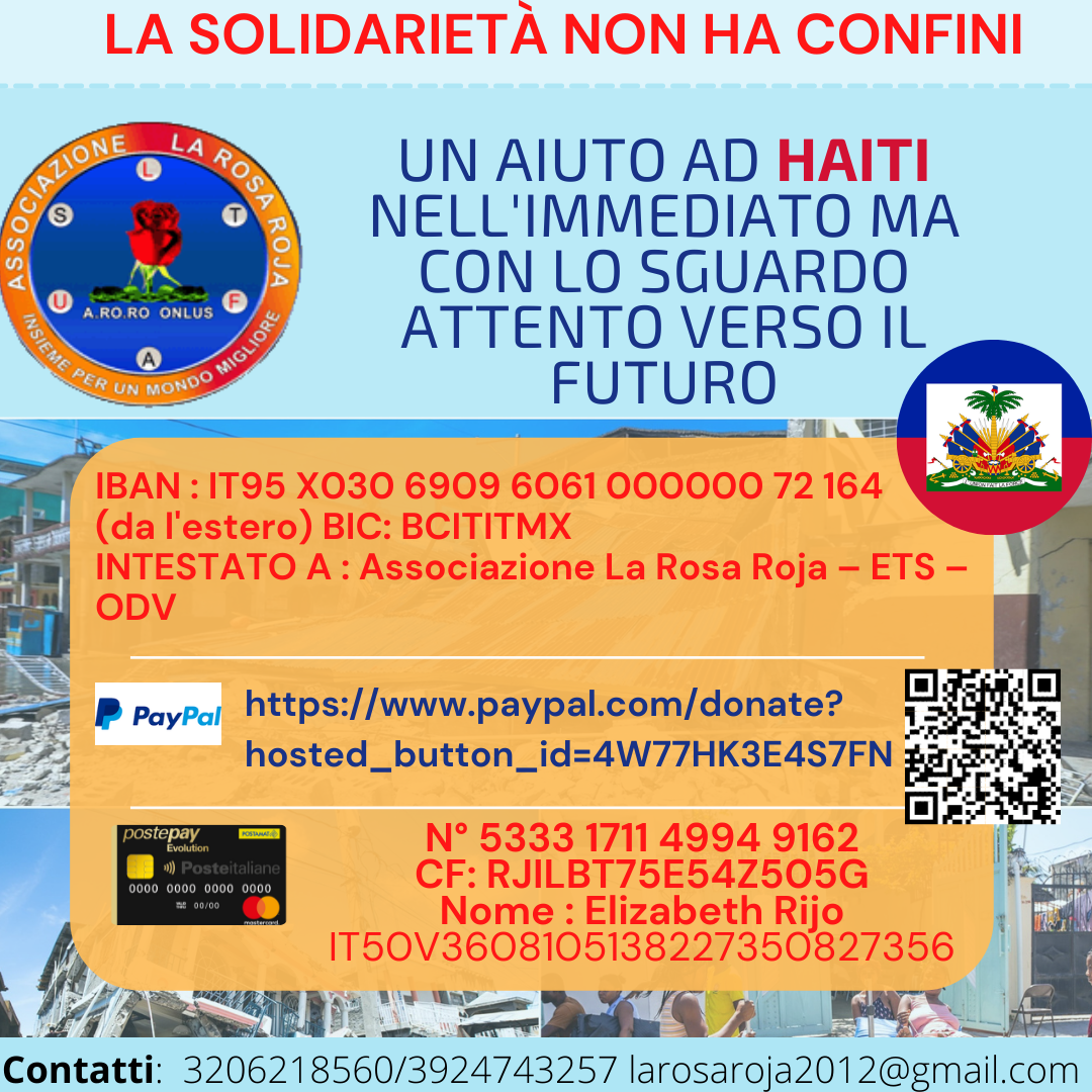 Aiutaci a sostenere Haiti dopo il terremoto